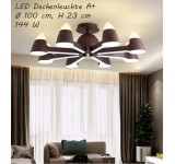 LED ceiling light 9072 with remote control light color / brightness adjustable acrylic shade painted metal frame
