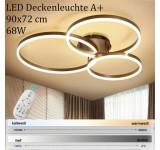 LED Deckenleuchte 8087 mit Fernbedienung Lichtfarbe/ Helligkeit einstellbar Acryl-Schirm lackierter Metallrahmen
