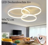 LED ceiling light 8087 with remote control light color / brightness adjustable acrylic shade painted metal frame