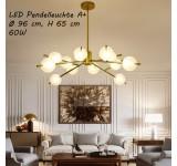 LED Pendelleuchte 9073 Lichtfarbe Neutralweiß Metallrahmen Gold lackiert A+