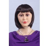 Wig D2 short straight Brown