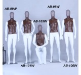 Mannequin white matt lacquered Brown chest high quality metal mesh head with metal plate