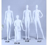 Mannequin white matt lacquered high-grade eggheaed with metal plate woman female