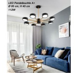 LED Deckenleuchte 9013D mit Fernbedienung Lichtfarbe einstellbar Acryl-Schirm A+ LED Wohnzimmerleuchte