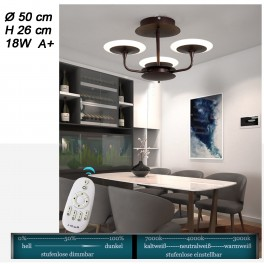 LED Deckenleuchte 9230X mit Fernbedienung Lichtfarbe und Helligkeit einstellbar Acryl-Schirm A+ LED Wohnzimmerleuchte