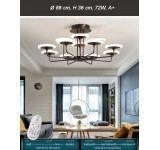 LED ceiling light 9230X with remote control light color and brightness adjustable acrylic shade A + LED living room light