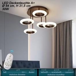 LED Deckenleuchte 9012X mit Fernbedienung Lichtfarbe einstellbar Acryl-Schirm A+ LED Wohnzimmerleuchte
