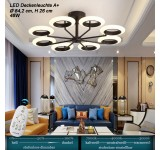 LED ceiling light 9012X with remote control light color adjustable acrylic shade A + LED living room light
