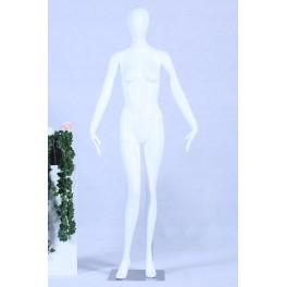 Schaufensterpuppe weiß matt lackiert hochwertig egghead Kopf mit Metallplatte Frau Weiblich