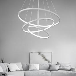 2130-3White 8x6x4 LED Pendelleuchte mit Fernbedienung Lichtfarbe und Helligkeit einstellbar Acryl-Schirm A+