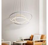 2130-3White 7x5x3 LED Pendelleuchte mit Fernbedienung Lichtfarbe und Helligkeit einstellbar Acryl-Schirm A+