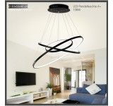 2130-3Black 7x5x3 LED pendulum light with remote control light color and brightness adjustable acrylic screen A +