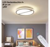 LED Deckenleuchte 8990 8992    mit Fernbedienung Lichtfarbe/Helligkeit Innen einstellbar Rahmen 4500 Kelvin Kaltweiß A+