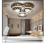D808 LED ceiling light with remote control light color / brightness adjustable frame only neutral white acrylic screen A +