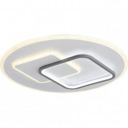 9643 LED Deckenleuchte mit Fernbedienung Lichtfarbe/ Helligkeit einstellbar Acryl-Schirm weiß/schwarz lackierter Metallrahmen