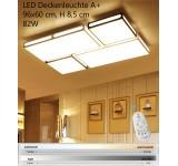 LED Deckenleuchte 3313 mit Fernbedienung Lichtfarbe und Helligkeit einstellbar Acryl-Schirm schwarze Ornamente A+