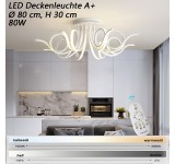 9503-8 LED ceiling light with remote control light color / brightness adjustable acrylic shade white lacquered metal frame